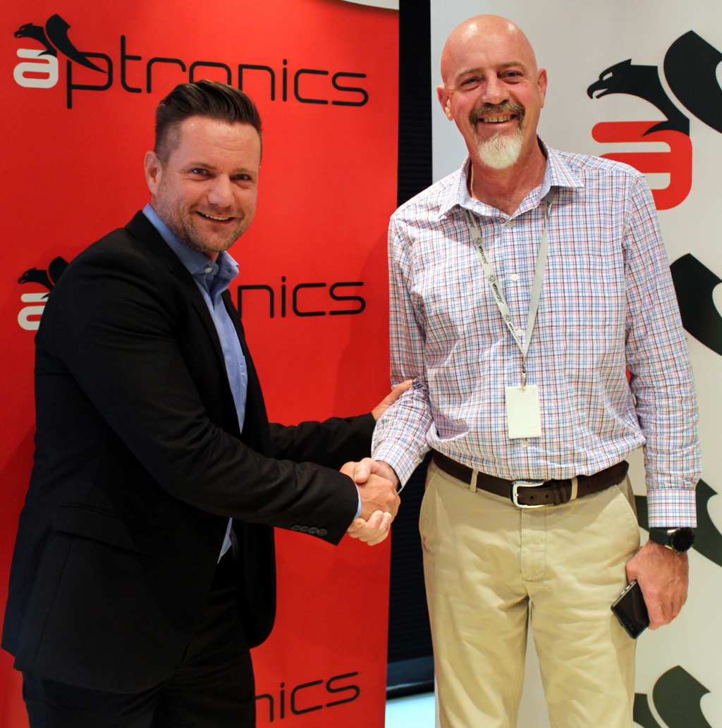 Claude Schuck of Veeam and Johan Grove of Aptronics